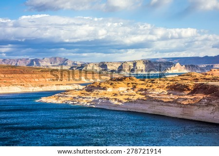 lake powell arizona - stock photo
