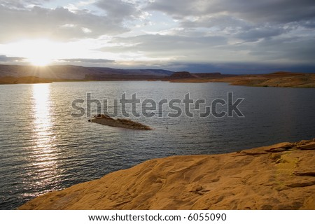 Lake Powell in Glen Canyon National Recreation Area Utah
