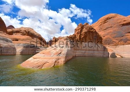Lake Powell in Page Arizona, USA - stock photo