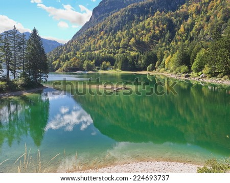 Lake Predil in Friuli near the Slovenian border