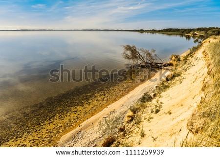 stock-photo-lake-shore-and-a-beautiful-c