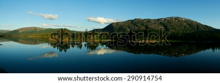 Lake Storvatnet in Norway - stock photo