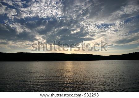 Lake Sunset - stock photo
