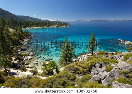 Lake Tahoe overview - stock photo
