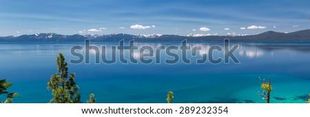 Lake Tahoe panorama - stock photo