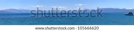 Lake Tahoe scenic beauty panorama, California. - stock photo