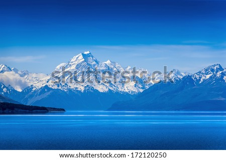 Lake Tekapo  - stock photo