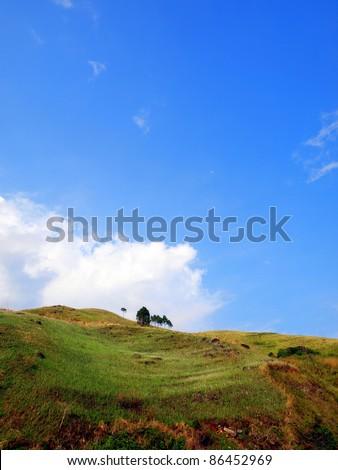 Lake Toba and its view around - stock photo
