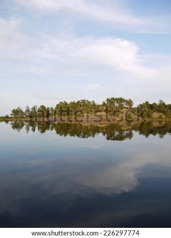lake vaenern in Sweden - stock photo