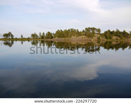 lake vaenern, Sweden - stock photo