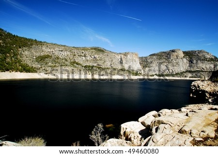 Lake view from the rocks, Yosemite