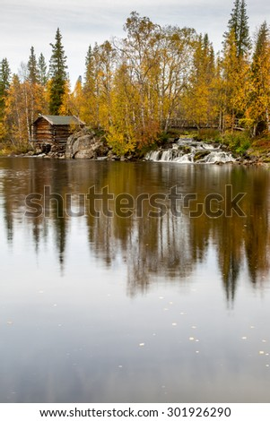 Lake view in Lapland - stock photo