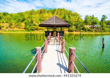 Lake View of Wangmajshar at Chiangrai, Thailand - stock photo