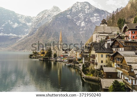 Lake village Hallstatt Austria