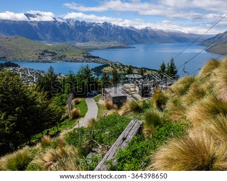 Lake Wakatipu and The Remarkable, Queenstown, New Zealand