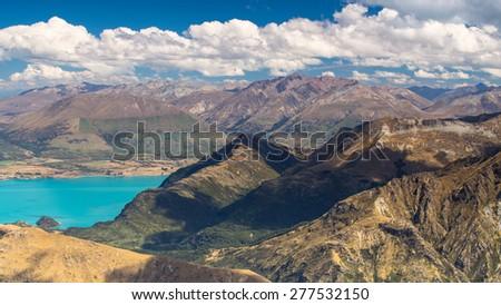 Lake Wakatipu, Queenstown, Otago, New Zealand - stock photo