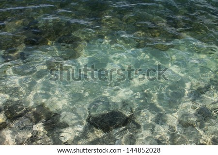 Lake water abstract background - stock photo
