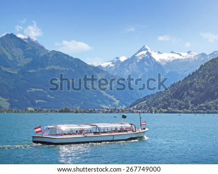 Lake Zell with Kitzsteinhorn, Austria - stock photo