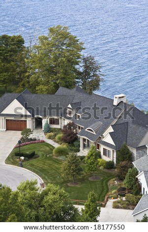 Lakefront residence in Cleveland, Ohio. - stock photo