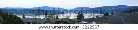 Lakes Sammamish panorama - Bellevue, Washington - stock photo