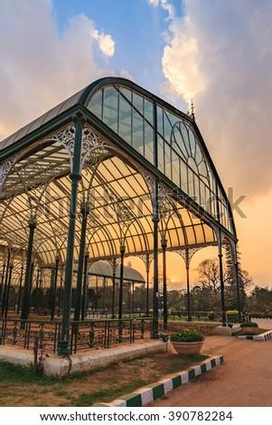 Lalbagh park, Bangalore, India - stock photo