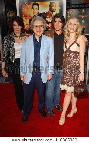 "Lalo Schifrin and family at the Los Angeles Premiere of ""Rush Hour 3"". Mann's Chinese Theater, Hollywood, CA. 07-30-07 - stock photo"
