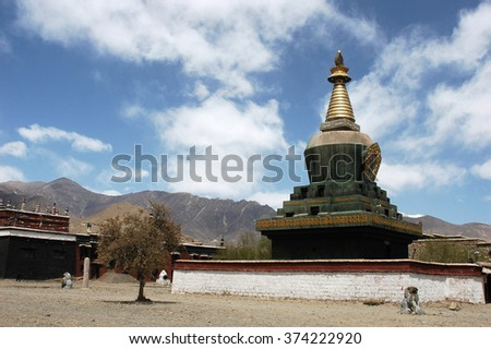 Lamasery in Tibet, Asia