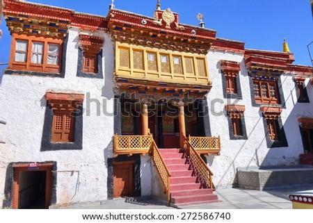 Lamayuru gompa - buddhist monastery in Indus valley - Ladakh - Jamu and Kashmir - India - stock photo