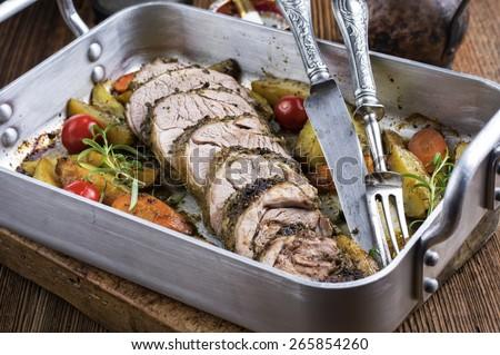 Lamb Roast - stock photo