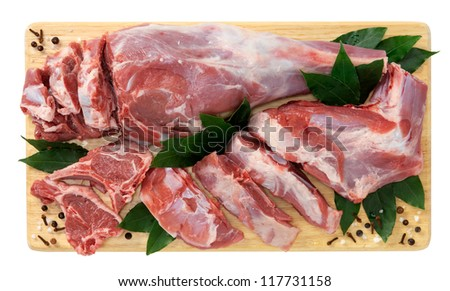 Lamb, shoulder slices - stock photo