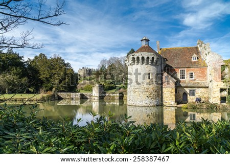 LAMBERHURST, KENT/UK - MARCH 5 : View of  a building on the Scotney Castle Estate near Lamberhurst Kent on March 5, 2015. Unidentified people.