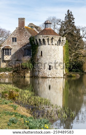 LAMBERHURST, KENT/UK - MARCH 5 : View of  a building on the Scotney Castle Estate near Lamberhurst Kent on March 5, 2015