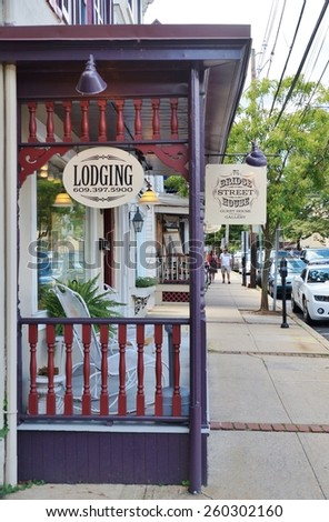 LAMBERTVILLE, NJ -CIRCA AUGUST 2014- Editorial: The charming historic town of Lambertville, located on the Delaware River in Hunterdon County, is nicknamed the  ??antiques capital of New Jersey .