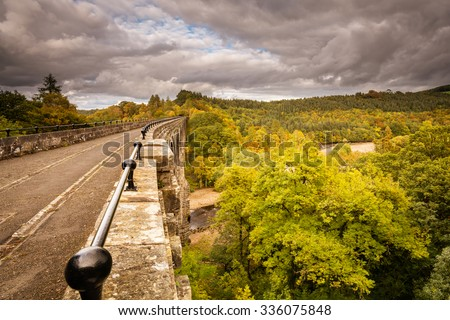 Lambley Viaduct in Autumn / The Lambley Railway Viaduct was built in 1852 and towers over the River South Tyne in Northumberland. There are nine arches which support a deck 32 metres above the river