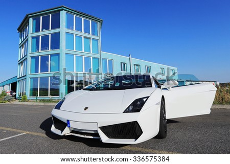Lamborghini Aventador, Airport Pribram 18th September 2012, Czech Republic - stock photo