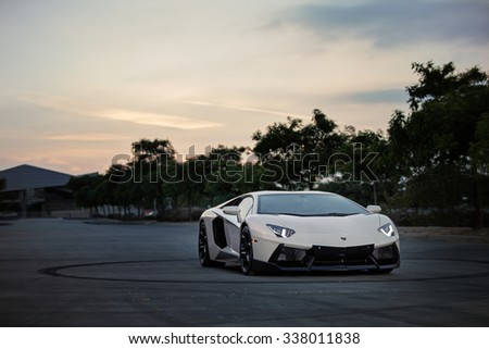 Lamborghini Aventador LP 700-4,  Los Angeles, CA 18th SEP 2015, USA - stock photo