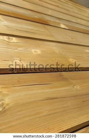 Laminated board wall of a modern wood house under construction