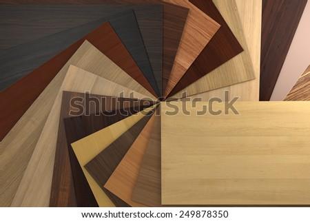 Laminated chipboards. - stock photo