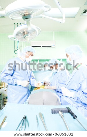 laminectomy,(Back Operation) - stock photo