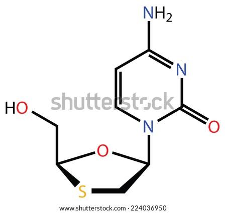 Lamivudine, a perspective treatment of Ebola virus disease - stock photo