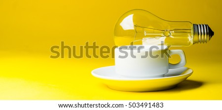 lamp and a cup of coffee