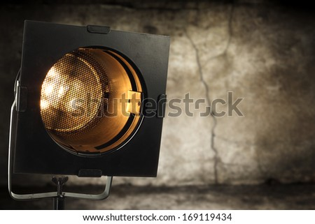 lamp and dirty wall  - stock photo