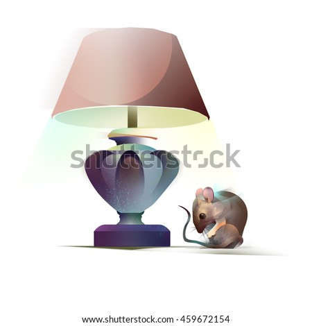 lamp and mouse