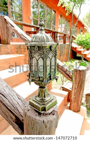 Lamp art euro style  for get light in night time