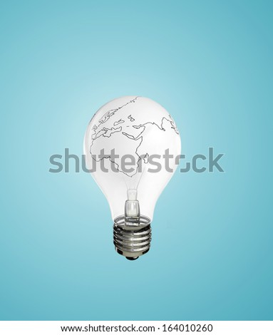 lamp earth on a white background