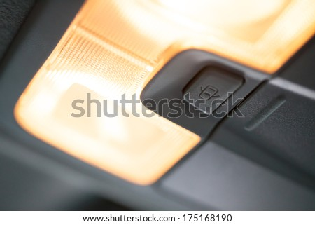 lamp inside car  - stock photo