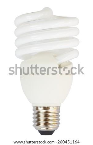 lamp isolated on white - stock photo