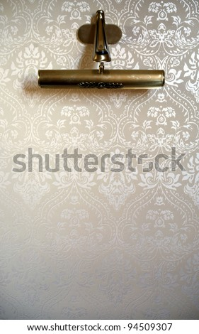Lamp on luxury wall, background - stock photo