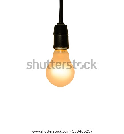 Lamp on white background