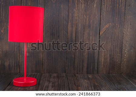Lamp on wood background - vintage effect style